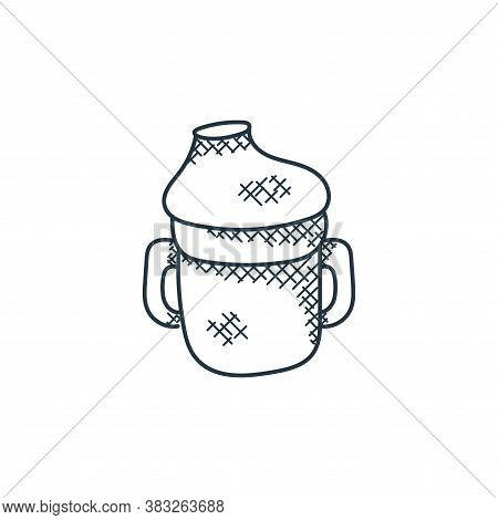 feeding bottle icon isolated on white background from food collection. feeding bottle icon trendy an