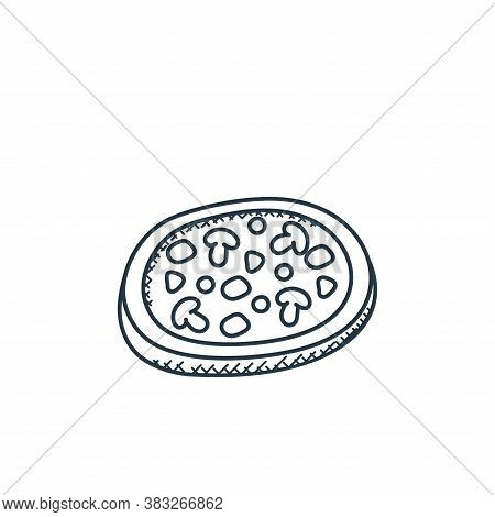 pizza icon isolated on white background from food collection. pizza icon trendy and modern pizza sym