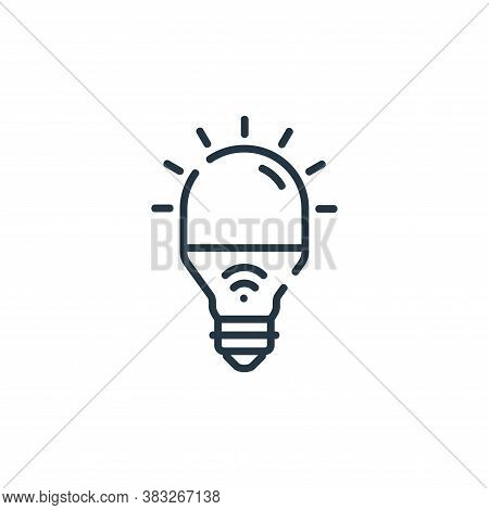 smart light icon isolated on white background from smarthome collection. smart light icon trendy and