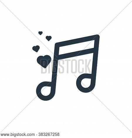 love song icon isolated on white background from valentine collection. love song icon trendy and mod