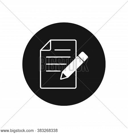 Writing Icon Isolated On White Background. Writing Icon In Trendy Design Style For Web Site And Mobi