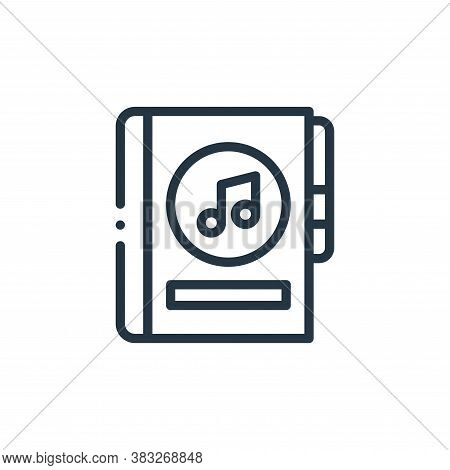 music book icon isolated on white background from music collection. music book icon trendy and moder