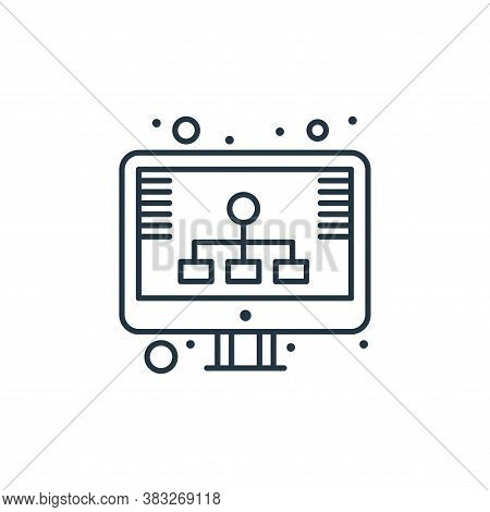 diagram icon isolated on white background from web hosting collection. diagram icon trendy and moder