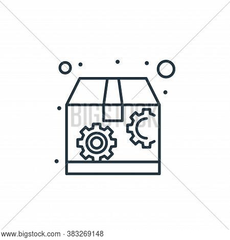 package box icon isolated on white background from seo collection. package box icon trendy and moder
