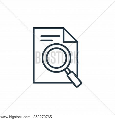 investigation icon isolated on white background from law collection. investigation icon trendy and m