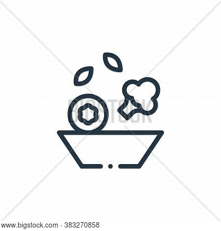 veggies icon isolated on white background from nutrition collection. veggies icon trendy and modern