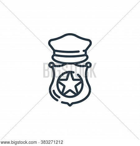 police icon isolated on white background from public services collection. police icon trendy and mod