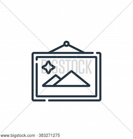 painting icon isolated on white background from auction collection. painting icon trendy and modern