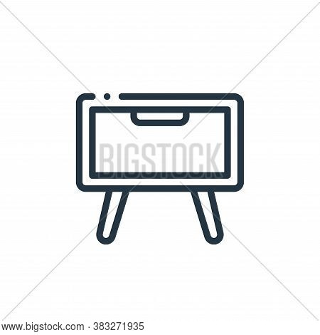 bedside table icon isolated on white background from furniture collection. bedside table icon trendy