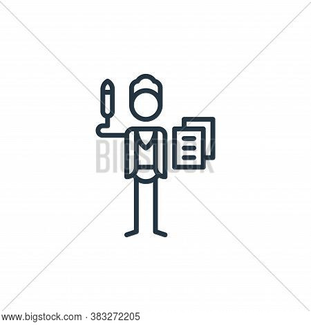 copywriter icon isolated on white background from graphic design collection. copywriter icon trendy