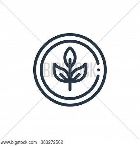 organic icon isolated on white background from nutrition collection. organic icon trendy and modern