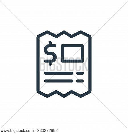 bill icon isolated on white background from ecommerce line collection. bill icon trendy and modern b