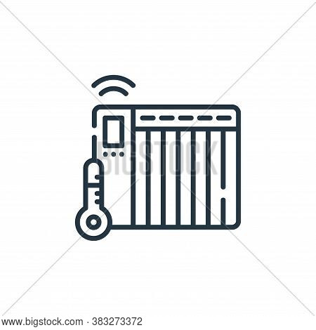 heater icon isolated on white background from smarthome collection. heater icon trendy and modern he