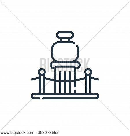 gallery icon isolated on white background from auction collection. gallery icon trendy and modern ga