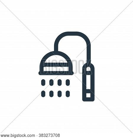 shower icon isolated on white background from nuclear energy collection. shower icon trendy and mode