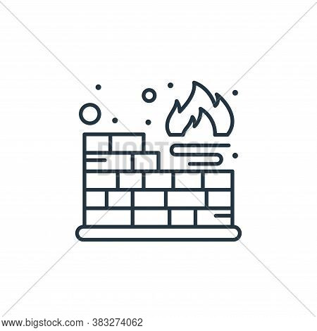 firewall icon isolated on white background from web hosting collection. firewall icon trendy and mod