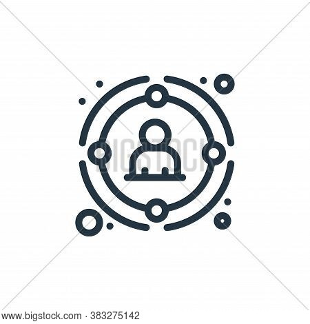 target icon isolated on white background from management collection. target icon trendy and modern t