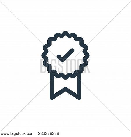 badge icon isolated on white background from voting elections collection. badge icon trendy and mode