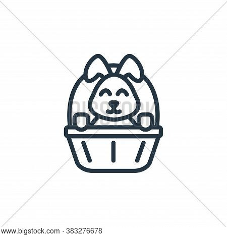 easter bunny icon isolated on white background from easter collection. easter bunny icon trendy and