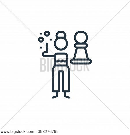 strategic icon isolated on white background from graphic design collection. strategic icon trendy an