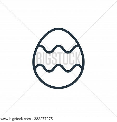 easter egg icon isolated on white background from easter collection. easter egg icon trendy and mode