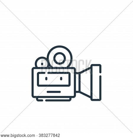 video camera icon isolated on white background from event collection. video camera icon trendy and m