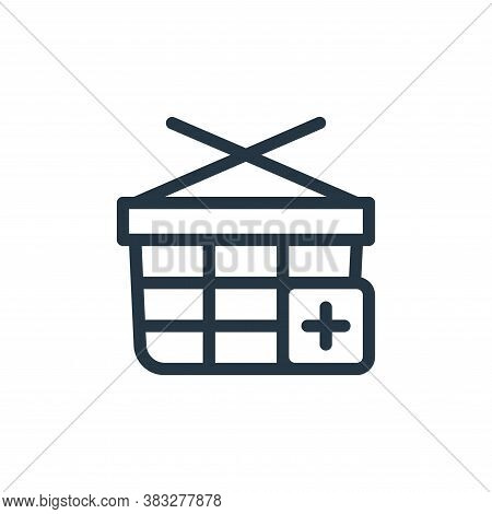 basket icon isolated on white background from ecommerce line collection. basket icon trendy and mode