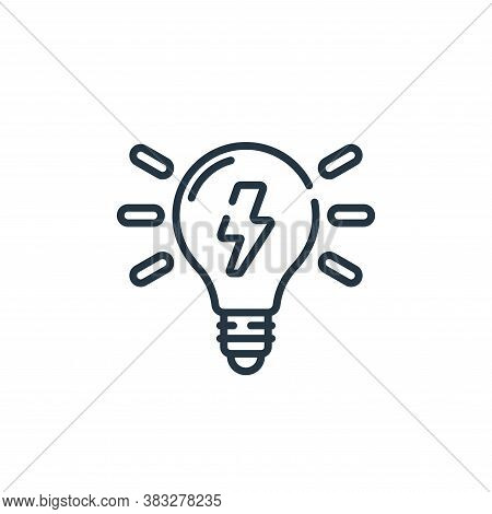 electricity icon isolated on white background from public services collection. electricity icon tren