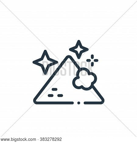 magic dust icon isolated on white background from magic collection. magic dust icon trendy and moder