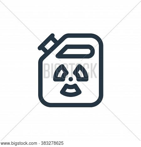 gasoline icon isolated on white background from nuclear energy collection. gasoline icon trendy and
