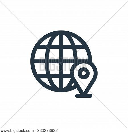 location icon isolated on white background from customer service collection. location icon trendy an