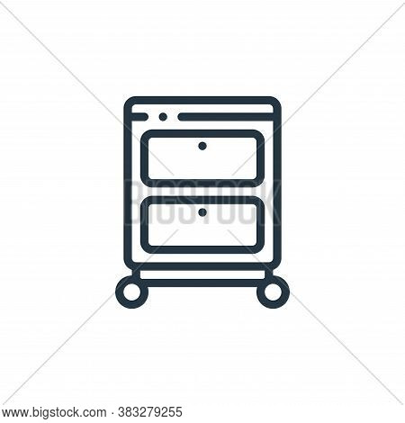 drawer icon isolated on white background from furniture collection. drawer icon trendy and modern dr