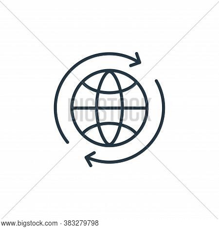 worldwide icon isolated on white background from communication collection. worldwide icon trendy and