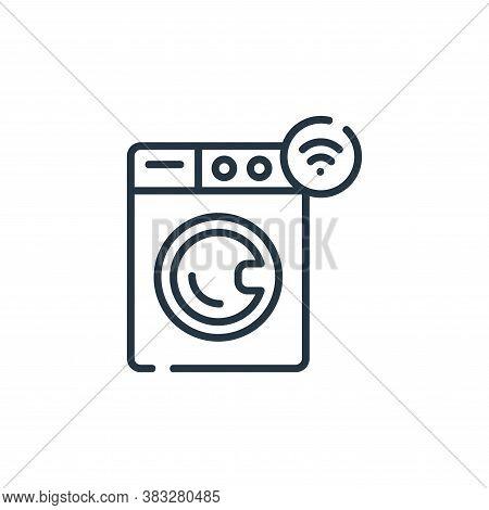 smart washing machine icon isolated on white background from smarthome collection. smart washing mac