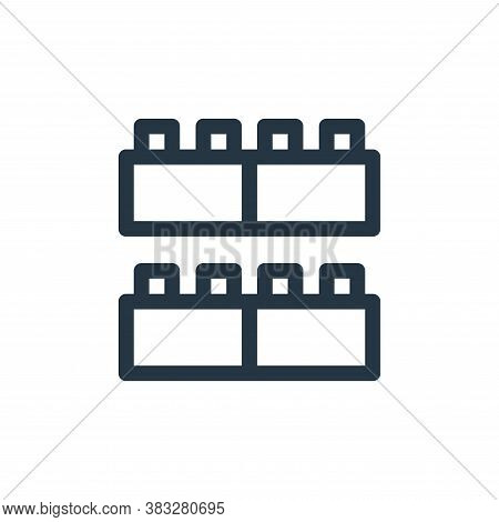 blocks icon isolated on white background from baby shower collection. blocks icon trendy and modern