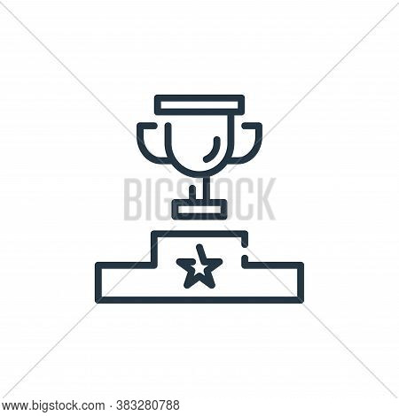 trophy icon isolated on white background from business collection. trophy icon trendy and modern tro