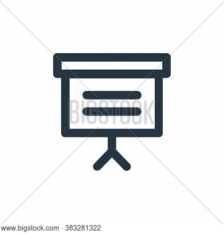 presentation icon isolated on white background from business and management collection. presentation