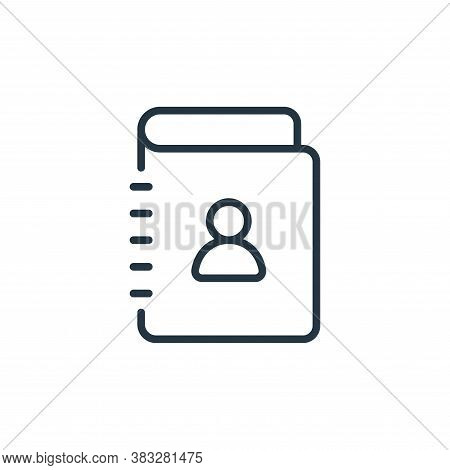 contact book icon isolated on white background from communication collection. contact book icon tren