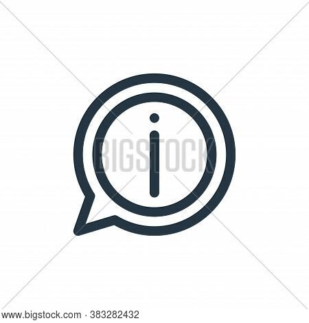 information icon isolated on white background from customer service collection. information icon tre