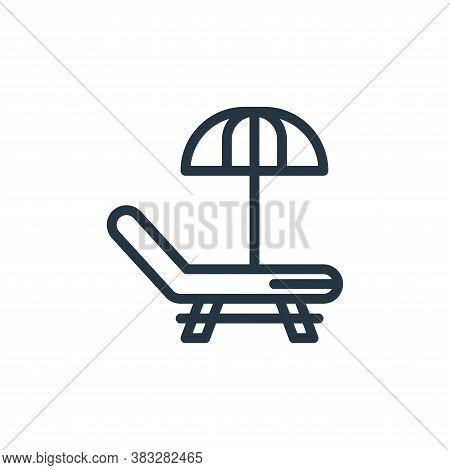 Sunbed icon isolated on white background from water park collection. Sunbed icon trendy and modern S