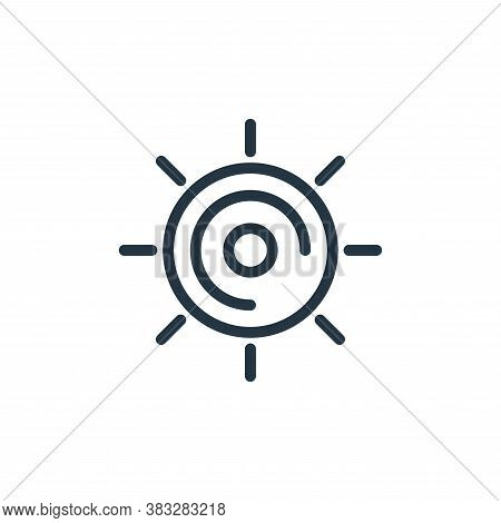 sun icon isolated on white background from water park collection. sun icon trendy and modern sun sym