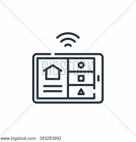 tablet icon isolated on white background from smarthome collection. tablet icon trendy and modern ta