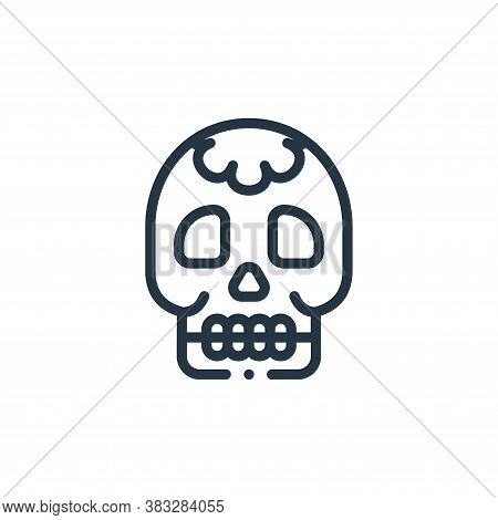 skull icon isolated on white background from magic collection. skull icon trendy and modern skull sy