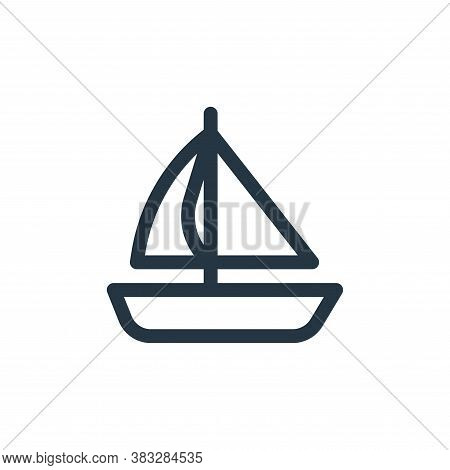 boat icon isolated on white background from baby shower collection. boat icon trendy and modern boat
