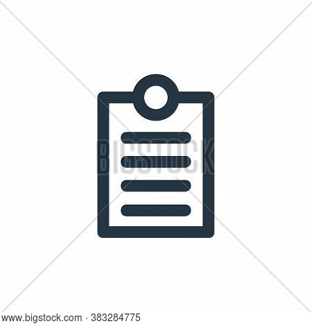 clipboard icon isolated on white background from business and management collection. clipboard icon