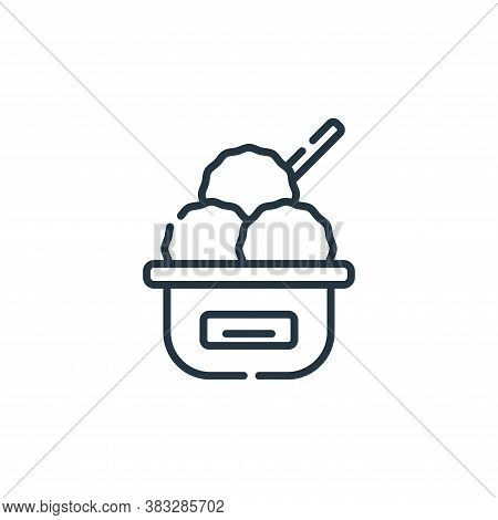 ice cream icon isolated on white background from event collection. ice cream icon trendy and modern
