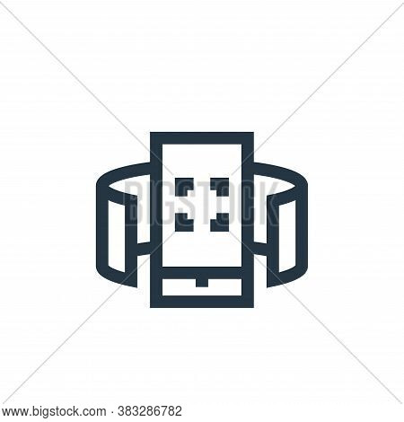 virtual reality icon isolated on white background from futuristic technology collection. virtual rea