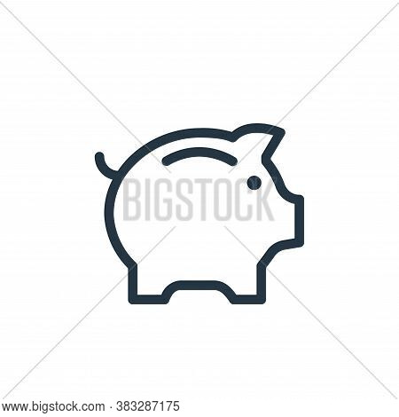 piggy bank icon isolated on white background from ecommerce line collection. piggy bank icon trendy