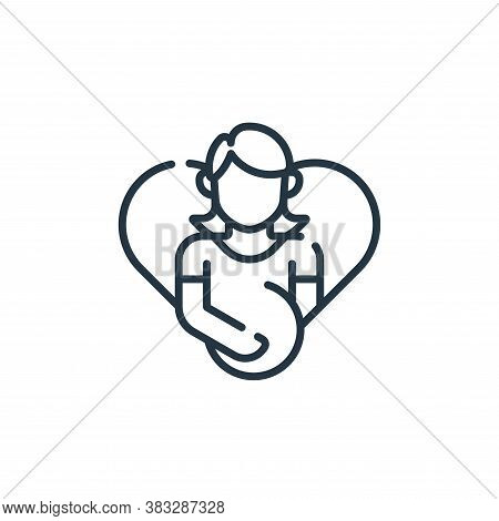 pregnant icon isolated on white background from public services collection. pregnant icon trendy and