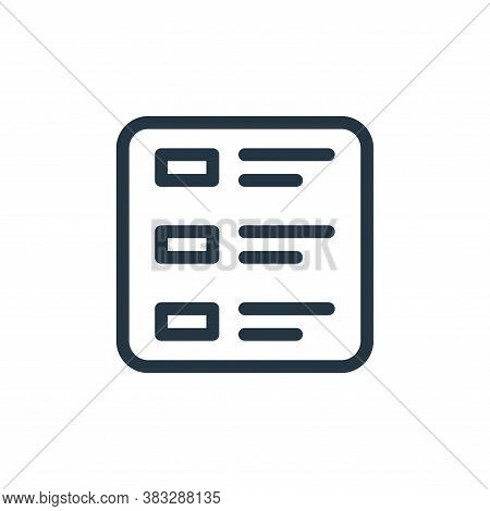 menu icon isolated on white background from ecommerce line collection. menu icon trendy and modern m